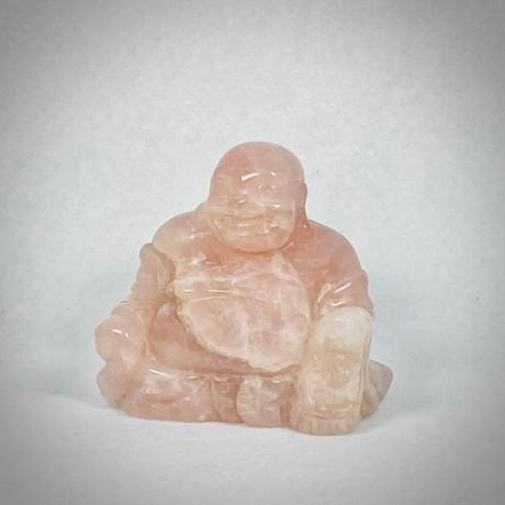 Rózsakvarc buddha