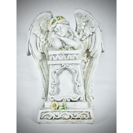 Merengő angyal - kőhatású szobor