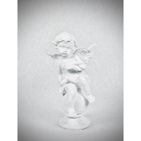 Gömbön ülő angyalka - fehér 3