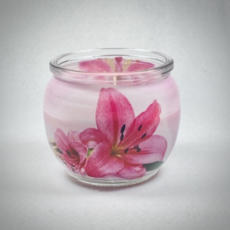 Pink Lily illatgyertya
