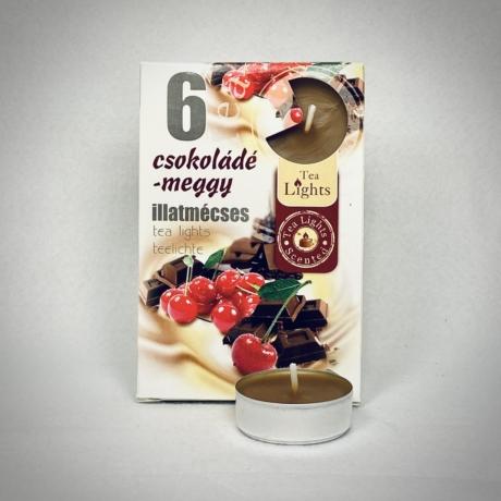 Csokoládé és Meggy illatú teamécses