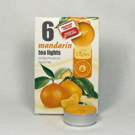 Mandarin illatú teamécses